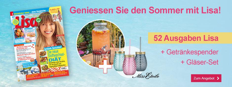 Lisa Jahresabo + Getränkespender + Gläserset - Sommer 2020