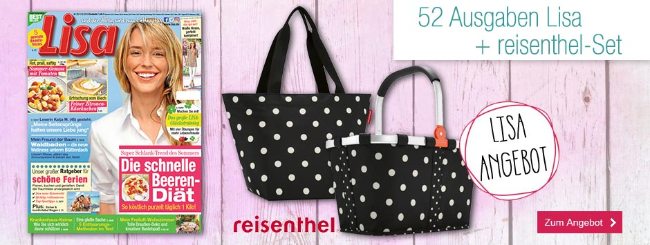 Lisa Jahresabo + reisenthel-Set mixed-dots