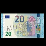 20€ Verrechnungsscheck