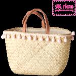 rice Pom-Poms Tasche